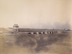 Panoramic view of aqueduct, [Nadrai Aqueduct, Lower Ganges Canal]. 38745